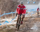 Owen off the front in U23 2014 Cyclocross National Championships. © Steve Anderson