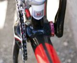 The large downtube is probably the most oversized of the tubeset on the X-85. ©Cyclocross Magazine