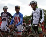 Heule, Johnson and Driscoll at the start line © Amy Dykema