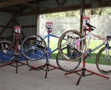 The race-winning bikes © Amy Dykema