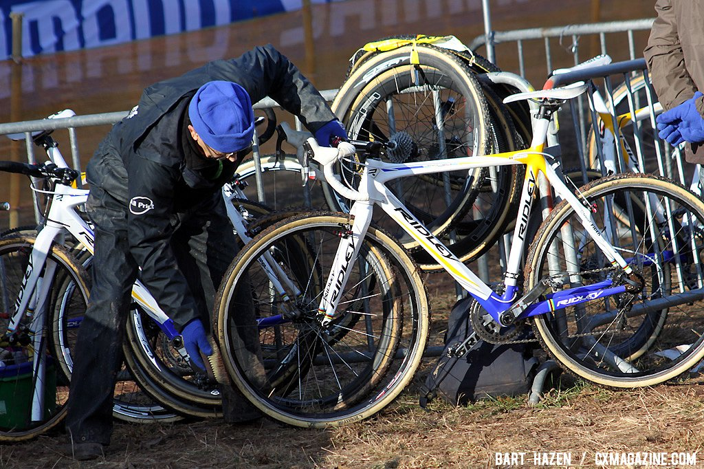 The mechanics weren\'t as busy as they could have been had it been had it been wetter or muddier.