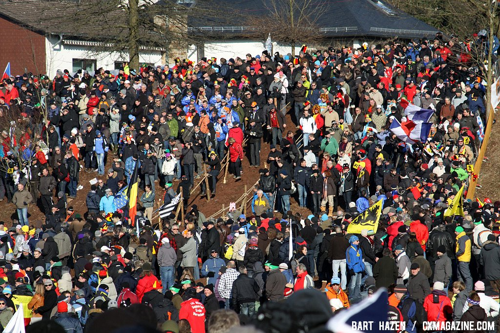 The crowds came out for day\'s racing.