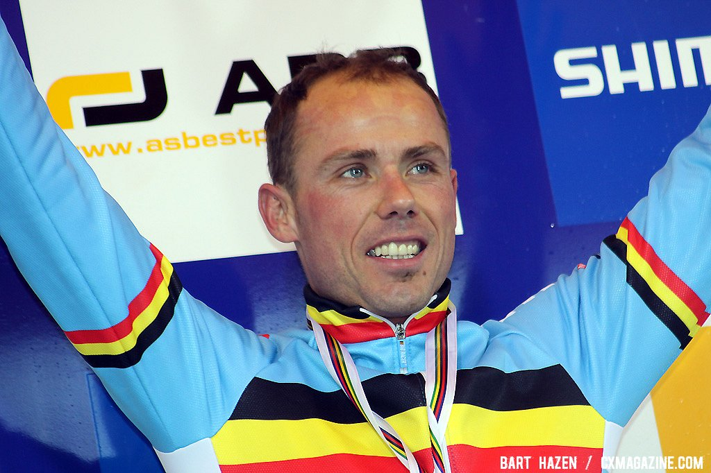 Sven Nys in good spirits despite another close miss.
