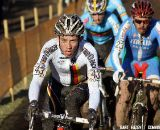 Phillipp Walsleben leads Marco Aurelio Fontana and Kevin Pauwels