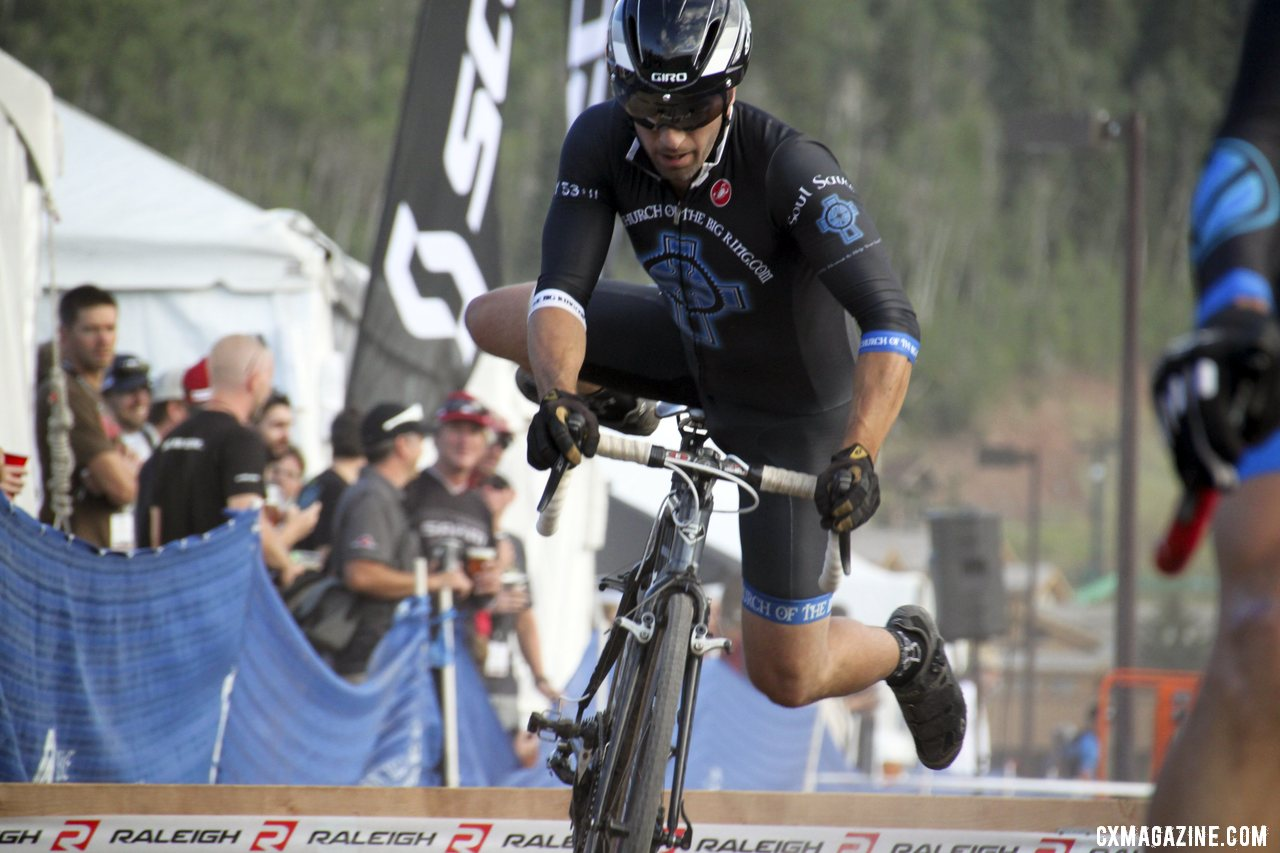 Ali Goulet rocking the aero helmet. 2012 Raleigh Midsummer Night Cyclocross Race. @Cyclocross Magazine