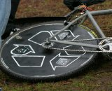 Craig Etheridge's custom disc CX wheel © Kenton Berg