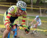 Singlespeeders ripped up the flowy course. © Karen Johanson