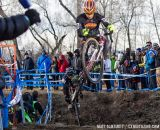 Alex Ryan entertains the crowd in the middle of the Elite Men race at the 2014 Cyclocross Nationals in Boulder, CO