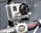 A slick custom GoPro mount built into the stem is one of many Moots options. © Cyclocross Magazine
