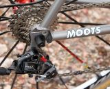 The rear dropouts on the Moots PsycloX RSL are reshaped, reconfigured, and lighter than the standard PsychloX. © Cyclocross Magazine