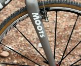 The new Moots cyclocross fork, with a 47mm rake and titanium finish.  © Cyclocross Magazine