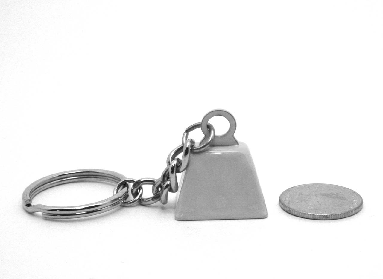 Tiny keychain bell in perspective © CXM