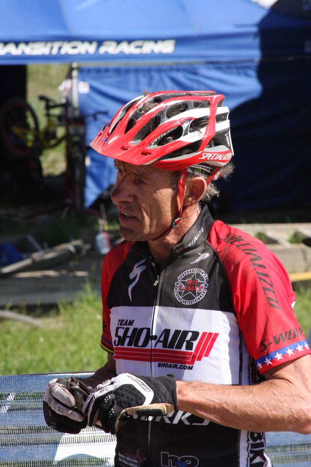 Overend post-race © Amy Dykema