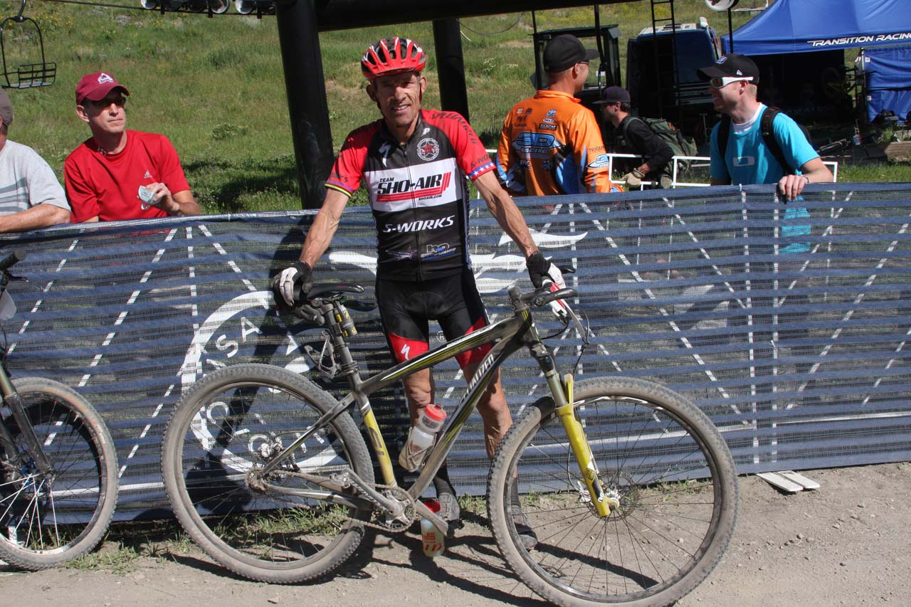 Ned Overend and his race winning singlespeed © Amy Dykema