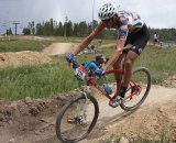Barry Wicks battles the course © Amy Dykema