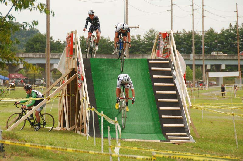 The flyover added some steep descending to the course. ?Bart Nave