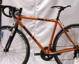 Caletti displayed two cyclocross bikes, one