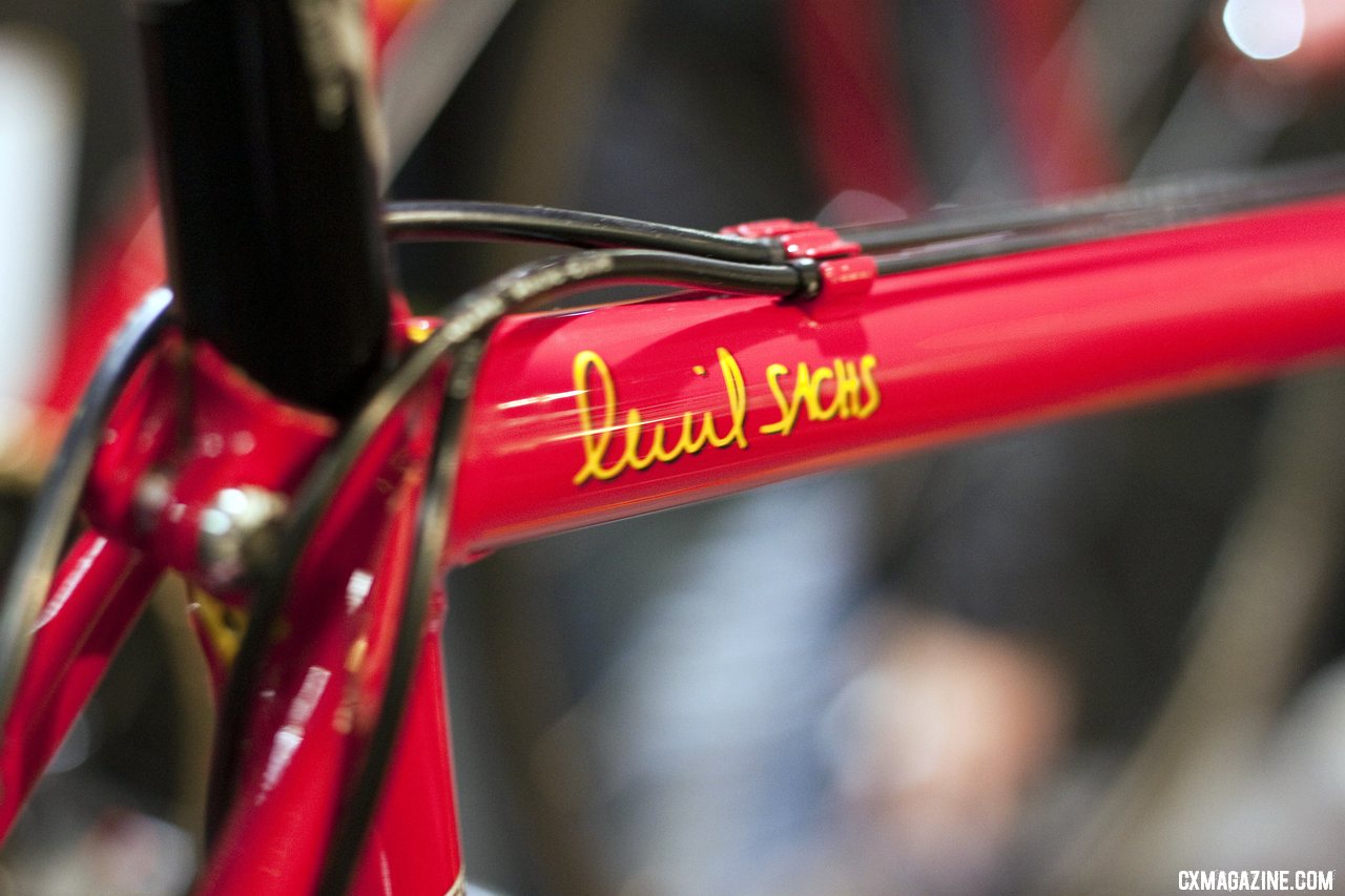 You can\'t miss the Richard Sachs logo at Nahbs 2012. ©Cyclocross Magazine