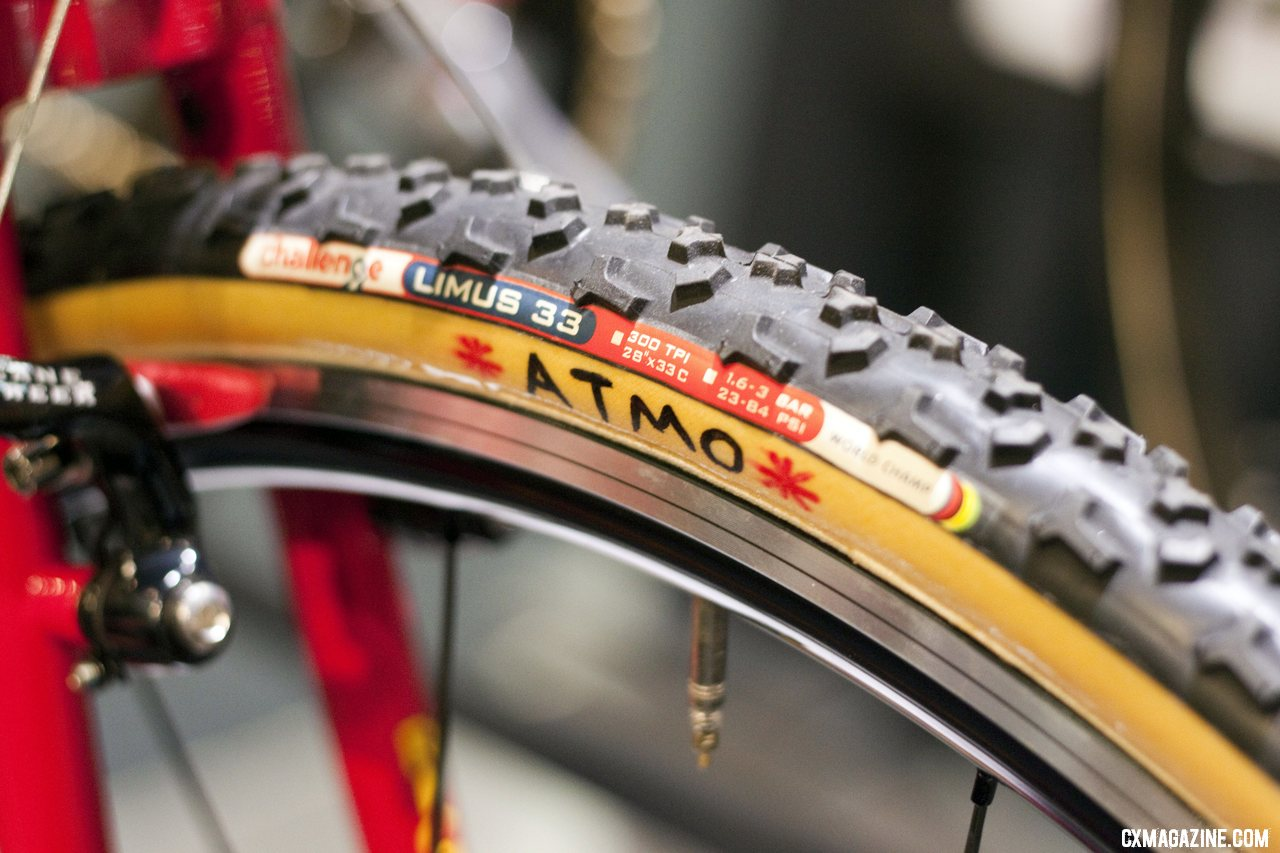 ATMO is Sach\'s slogan and can be found on all of his wheels, including these Challenge Limus-dressed Cole wheels. ©Cyclocross Magazine
