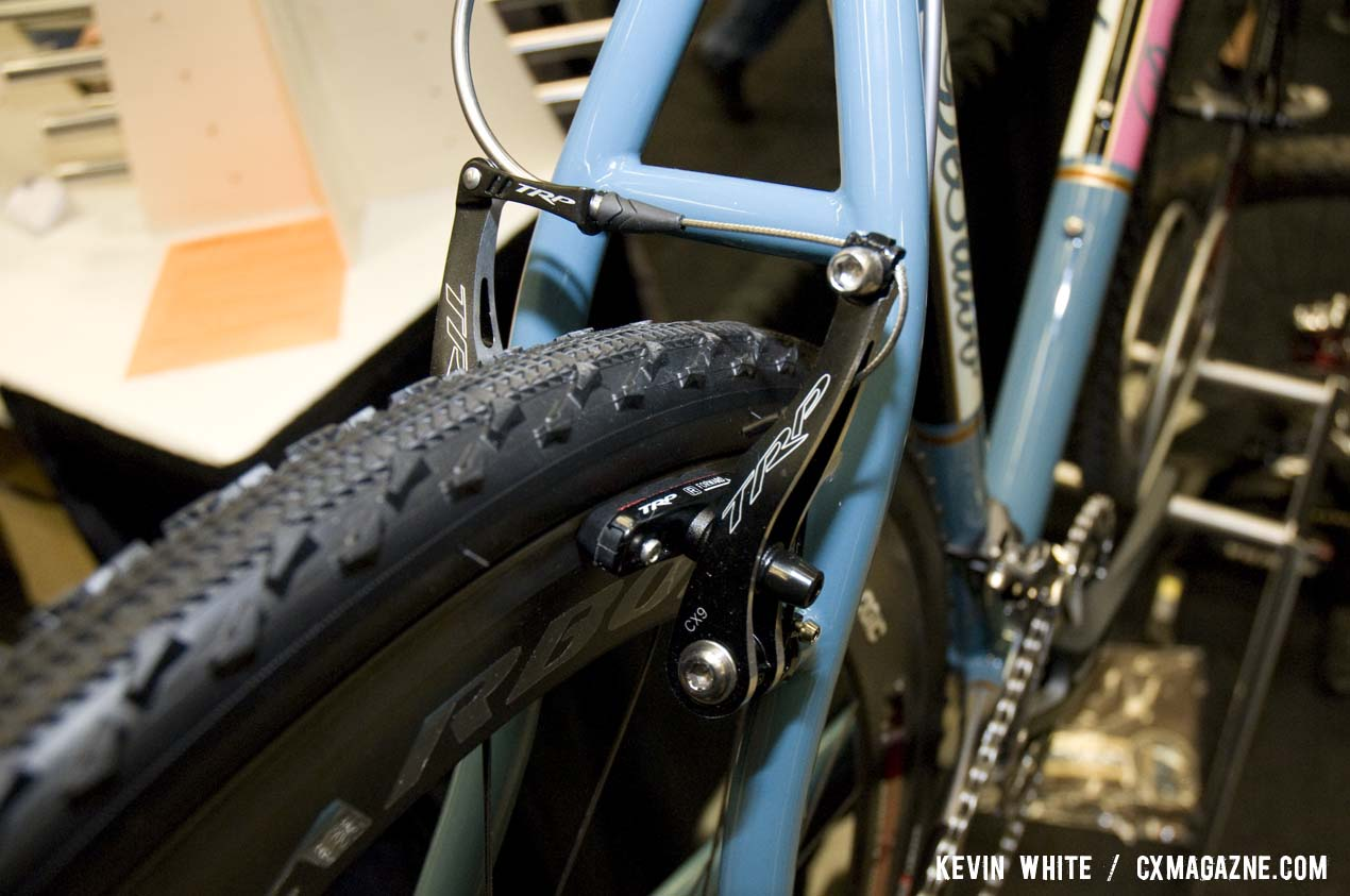 DeSalvo chose TRP linear pull brakes for the show bike. © Kevin White