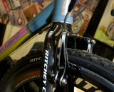 Ritchey Super Logic carbon wheels and WCS fork were featured on DeSalvo's cyclocross build. © Kevin White