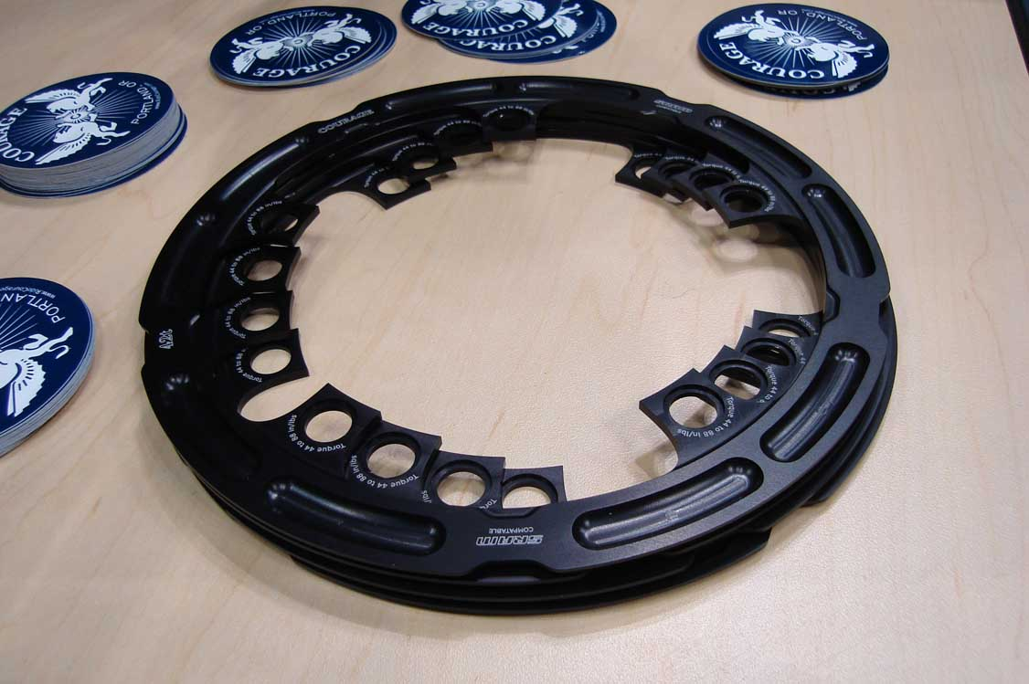 Courage Cycles\' chainring guards