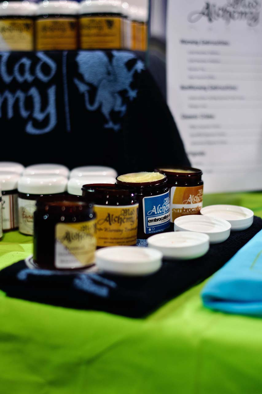 The Embrocation Journal booth featured the entire Mad Alchemy line. Not sure what you like? Try a sample. ? Bill Schieken/www.cxhairs.com