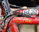 Richard Sachs' personal rides featured classic lines and the detritus from the last race of the season. © Bill Schieken/www.cxhairs.com