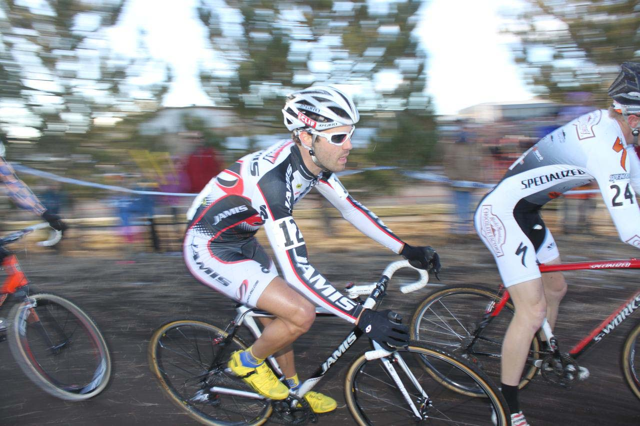 Jesse Anthony working in a chase group. ? Cyclocross Magazine