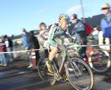 Johnson looked like he was suffering on the front alone. ? Cyclocross Magazine