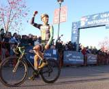 Johnson, finally able to smile. ? Cyclocross Magazine