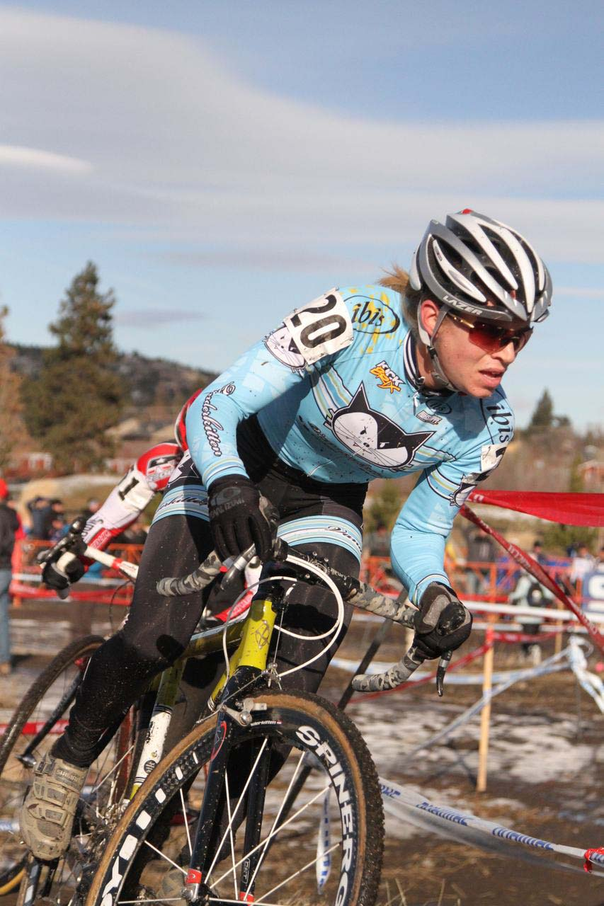 Barbara Howe, who broke her bike, was an outside favorite going into Bend. ? Janet Hill