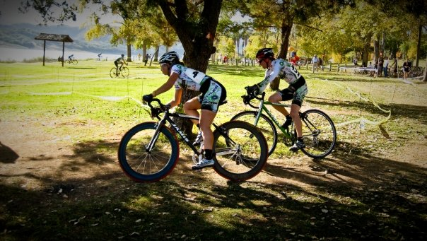 Kendal Ryan (l) is looking for a 'cross jersey to complement her track National Champions jersey. ? Mark Colton