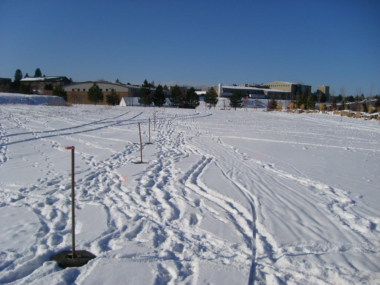 Straightaway and snow ? David Baker