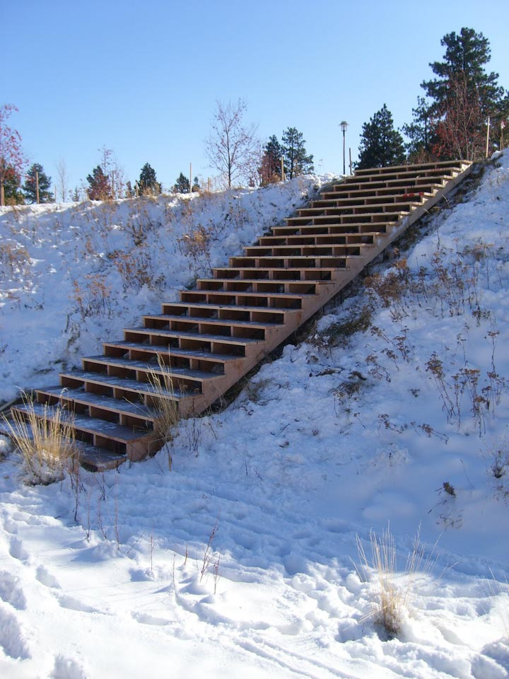 Stair run-up, ice-free please ? David Baker