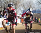 Cameron Beard (Hutch's - Specialized, at right) reacts to the sprint for fourth.  © Brian Nelson