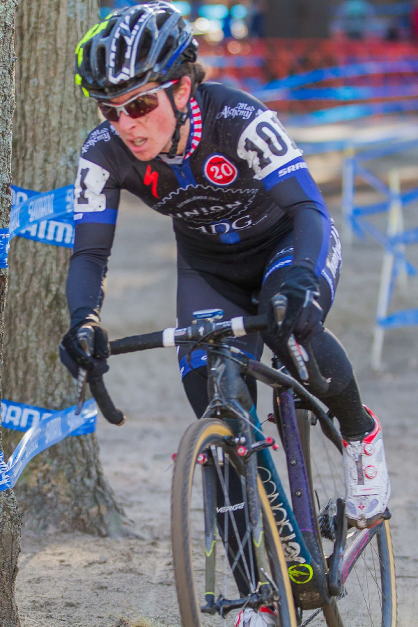Arley Kemmerer (C3 Twenty20 Cycling) with her game face on. © Todd Prekaski