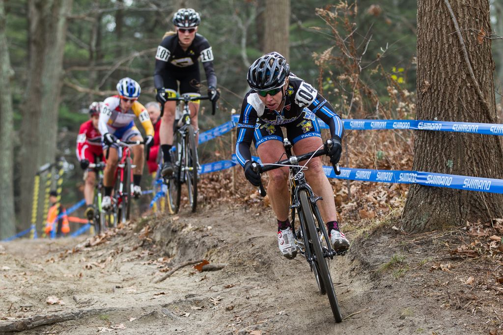 Sandy, rooty trails were a unique feature of this race. © Todd Prekaski