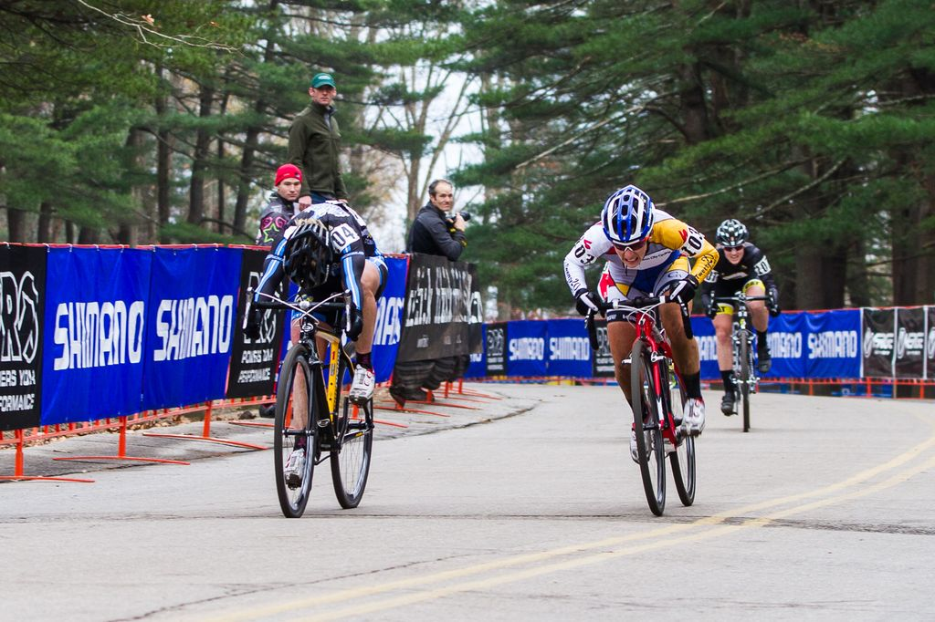 The photo finish: van Gilder takes it by a quarter of a wheel\'s length. © Todd Prekaski