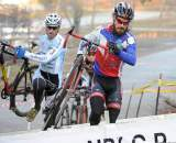 Timmerman and Myerson in the barriers © Natalia McKittrick | Pedal Power Photography | 2009