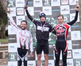 Brian Lopes (Oakley/Ibis) takes the top step of the Elite men's podium ©Dave Sheek
