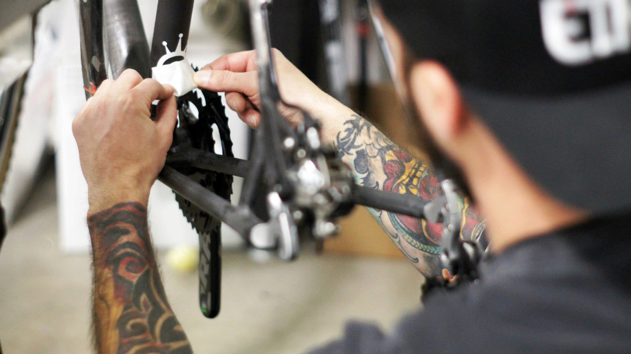 The making of the bikes: Duke met with Alchemy a month ago to discuss her needs. © Alchemy Bicycle Company