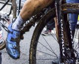 Niels Albert's disc brake-equipped Colnago Prestige at the 2013 Koppenbergcross. © Cyclocross Magazine