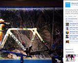 Shimano shows of Sven Nys' adapted disc brake-equipped Colnago Prestige cyclocross bike.