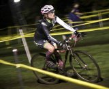 Christine Fort (crossresults.com p/b JRA Cycles) battles under the lights. © Chris Gagne