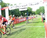 Todd Wells takes the sprint finish at Nittany Lion Cross Day 1. © Cyclocross Magazine