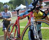 Adam Myerson leads a JAM Fund rider at Nittany Lion Cross Day 1. © Cyclocross Magazine