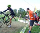 The hecklers were crazed at the barriers at Nittany Lion Cross Day 2 2013. © Cyclocross Magazine