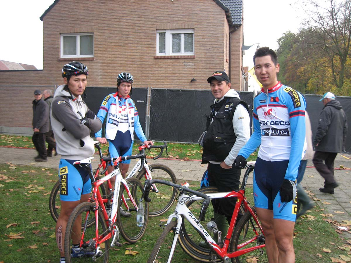 Johan Musseuw\'s Mongolian team had its first race at Jaarmaarktcross. ? Christine Vardaros