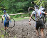 Even the top men couldn't make it through some mud.  ©  Jeff Bramhall